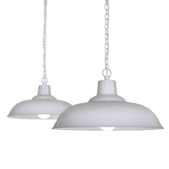 Portland Bedroom and Hallway Pendant Light Pale Grey - Soho Lighting