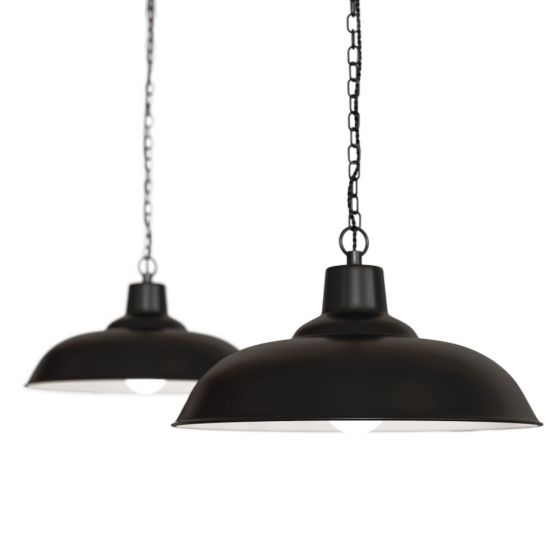 Portland Bedroom and Hallway Pendant Light Matt Black - Soho Lighting