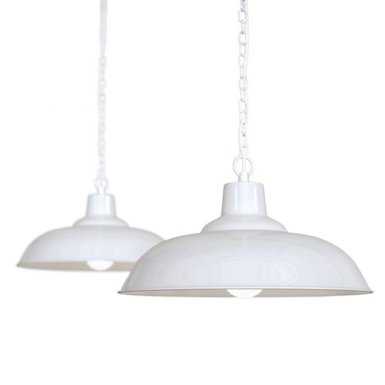 Portland Bedroom and Hallway Pendant Light Pure White - Soho Lighting