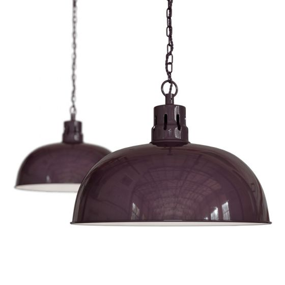 Mulberry Red Burgundy Rustic Dome Dining Room Pendant Light - Berwick - Soho Lighting