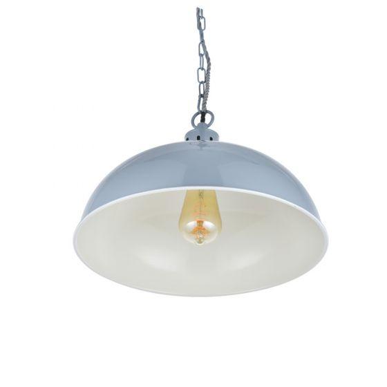 Berwick Rustic Dome Pendant Light French Grey