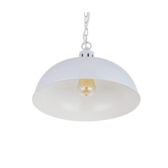 Berwick Rustic Dome Pendant Light Pale Grey