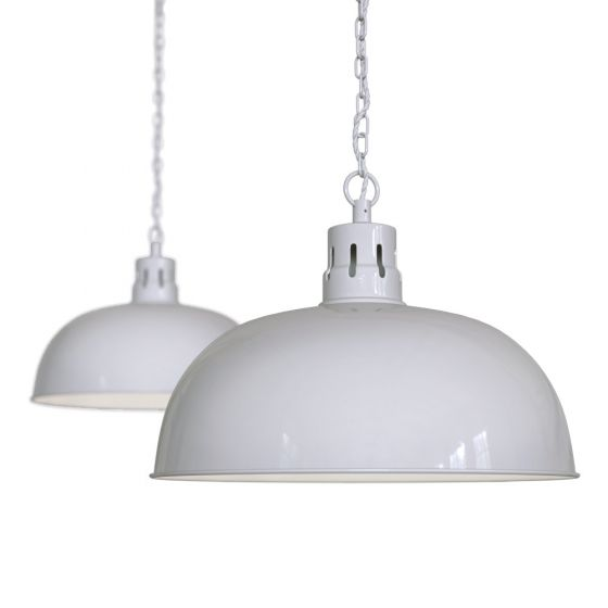 Pale Grey Rustic Dome Dining Room Pendant Light - Berwick - Soho Lighting
