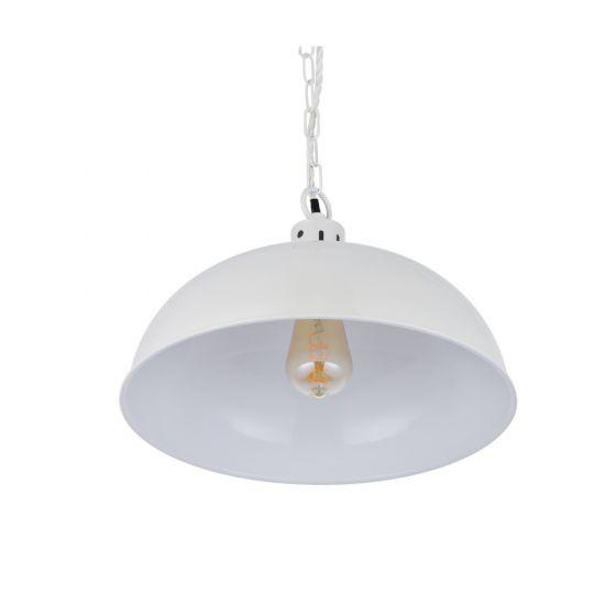 Berwick Rustic Dome Pendant Light Clay White