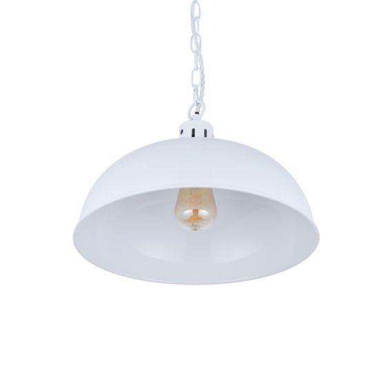 Berwick Rustic Dome Pendant Light Pure White