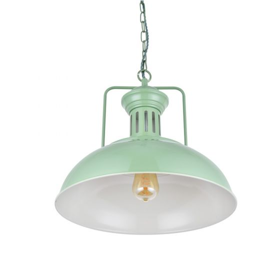Regent Vintage Kitchen Pendant Light Chalk Green