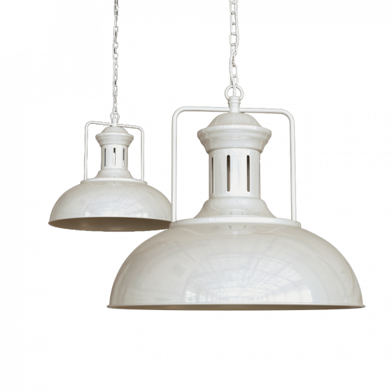 Clay White Cream Vintage Kitchen Island Pendant Light - Regent - Soho Lighting