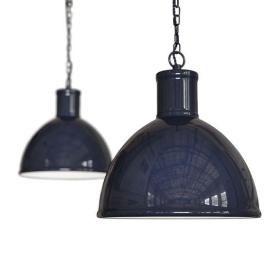 Navy Blue Pendant Light