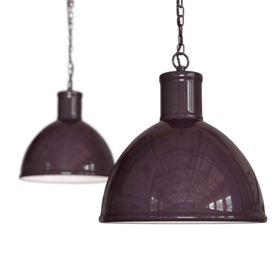 Mulberry Red Burgundy Industrial Hallway Pendant Light - Wardour - Soho Lighting