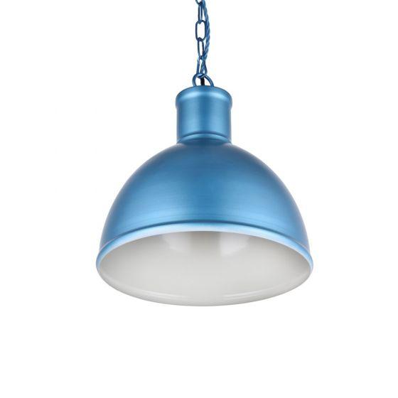 Wardour Industrial Bay Pendant Light Aston Blue