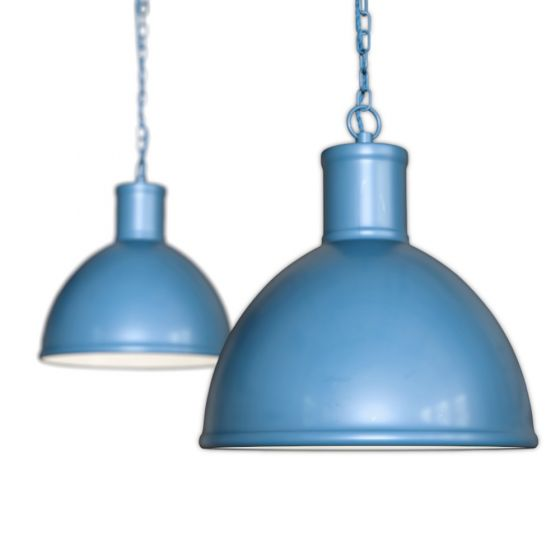 Wardour Industrial Hallway Pendant Light Aston Blue - Soho Lighting