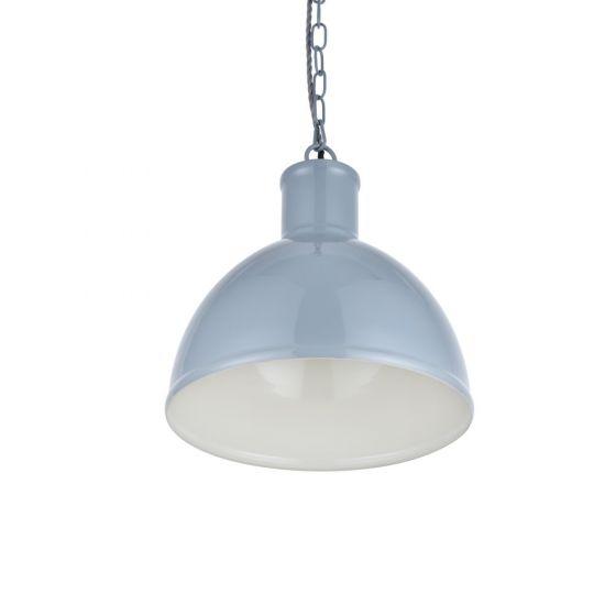 Wardour Industrial Bay Pendant Light French Grey