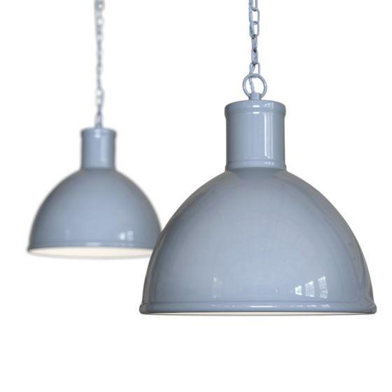 French Grey Industrial Hallway Hallway Pendant Light - Wardour - Soho Lighting
