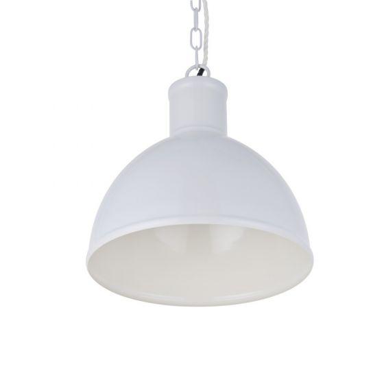 Wardour Industrial Bay Pendant Light Pale Grey