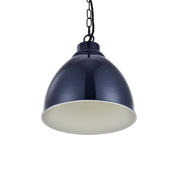 Oxford Vintage Pendant Light Squid Ink Blue