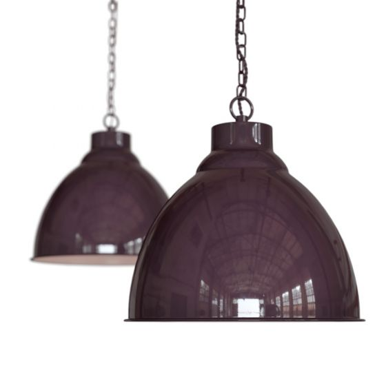 Mulberry Red Burgundy Vintage Pendant Light - Oxford - Soho Lighting