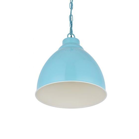 Oxford Vintage Pendant Light Duck Egg Blue