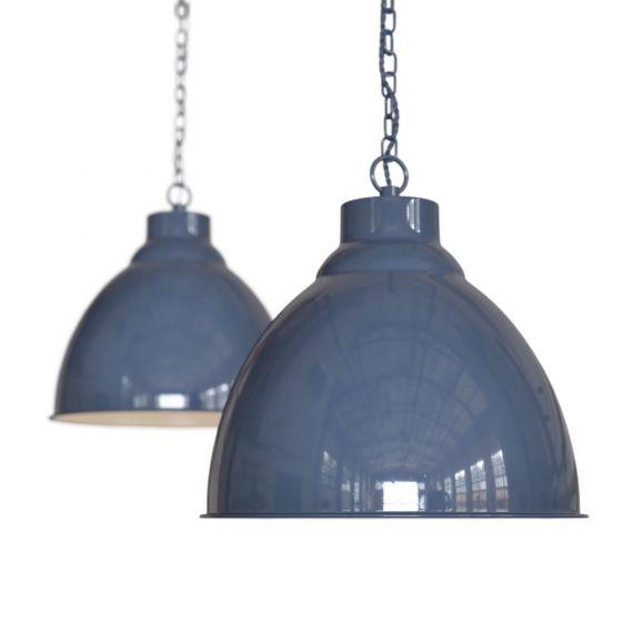 Leaden Grey Vintage Pendant Light - Oxford - Soho Lighting