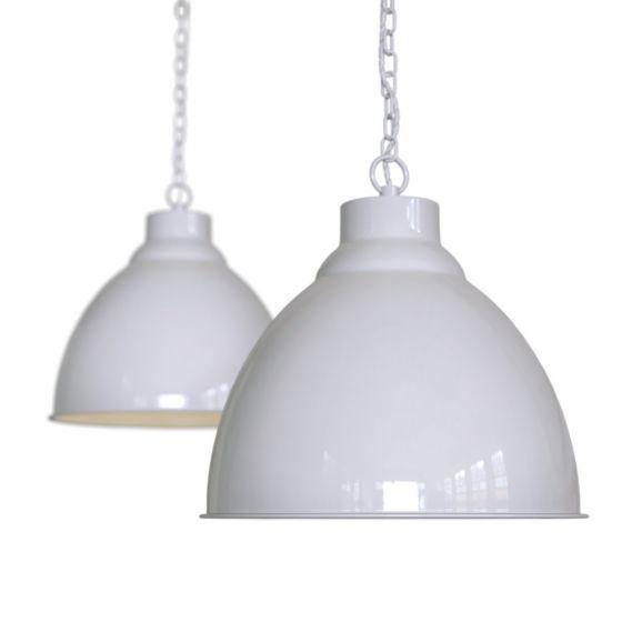 Pale Grey Vintage Pendant Light - Oxford - Soho Lighting