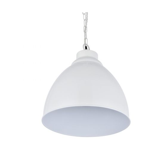 Oxford Vintage Pendant Light Clay White