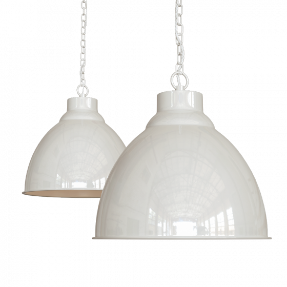 Clay White Cream Vintage Pendant Light - Oxford - Soho Lighting