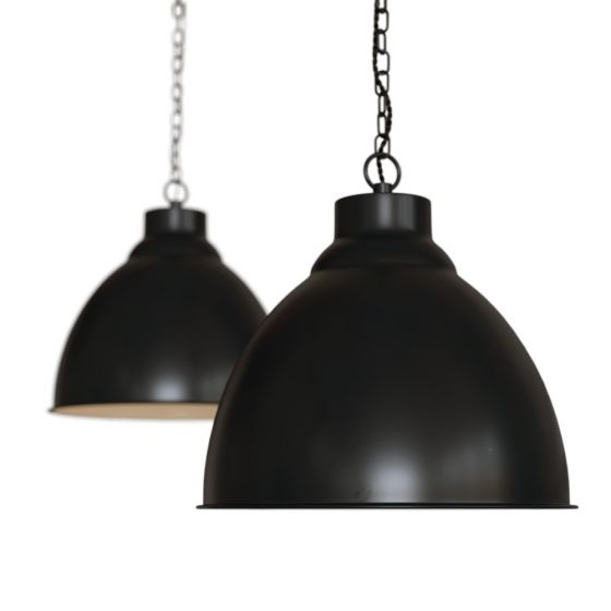 Matt Black Vintage Pendant Light - Oxford - Soho Lighting