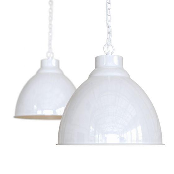 Pure White Vintage Pendant Light Oxford - Soho Lighting