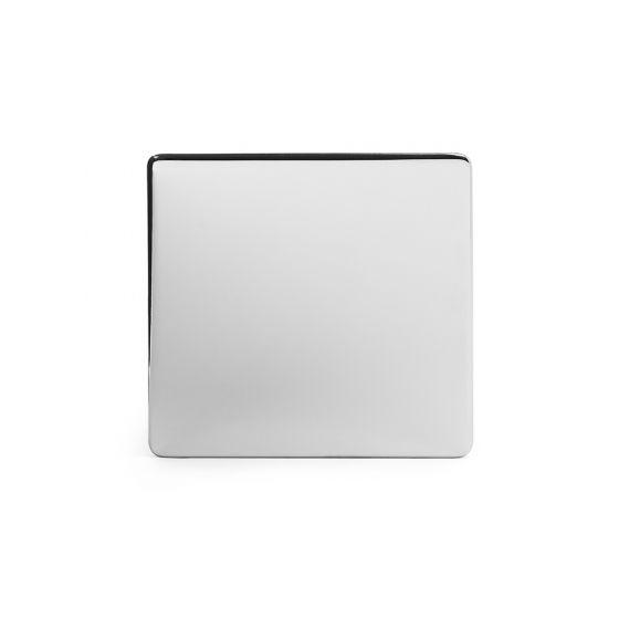 Soho Lighting Polished Chrome metal 1 Gang Blanking Plate Screwless