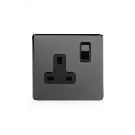 black nickel sockets screwless