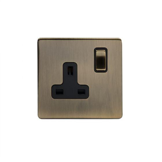 antique brass screwless sockets