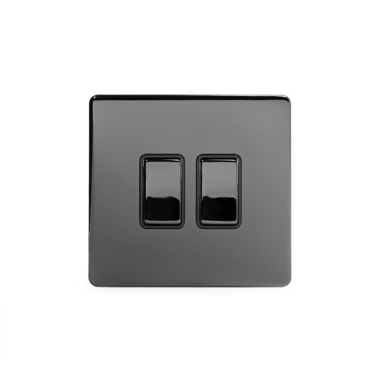 Screwless Black Nickel Switches
