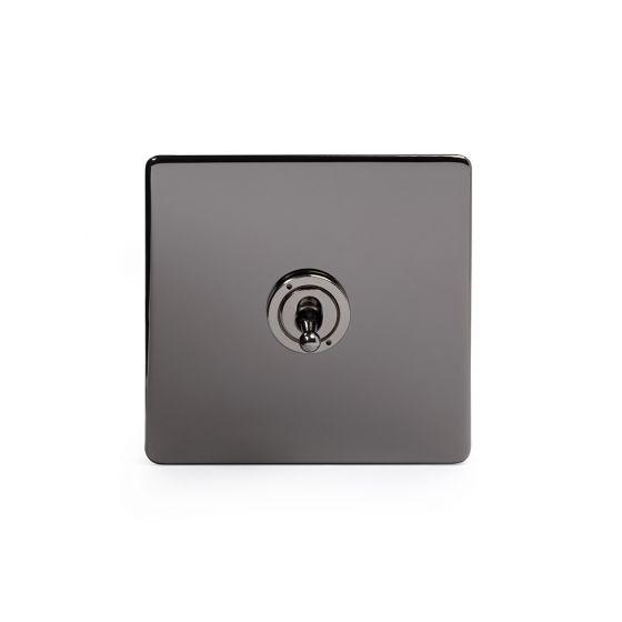 Soho Lighting Black Nickel 1 Gang Intermediate Toggle Switch Screwless
