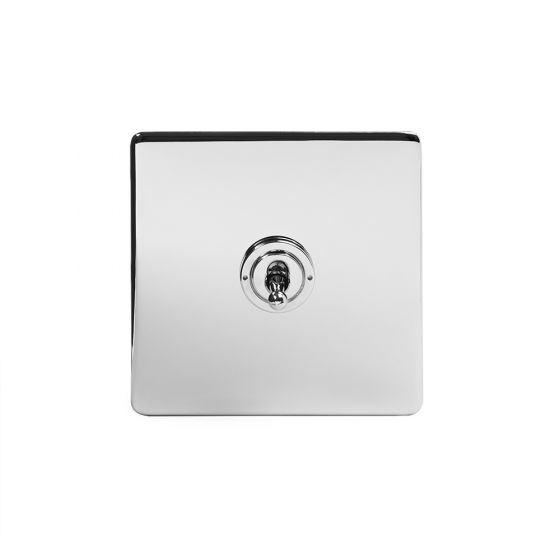 Soho Lighting Polished Chrome 1 Gang Intermediate Toggle Switch Screwless