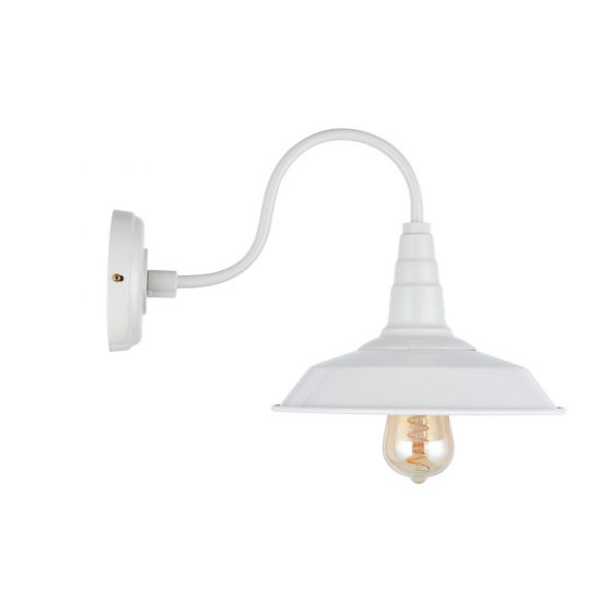 Argyll Industrial Wall Light Clay White