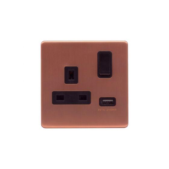 Copper USB Socket