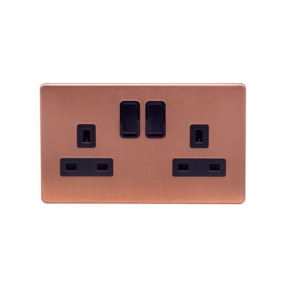 2 gang copper socket