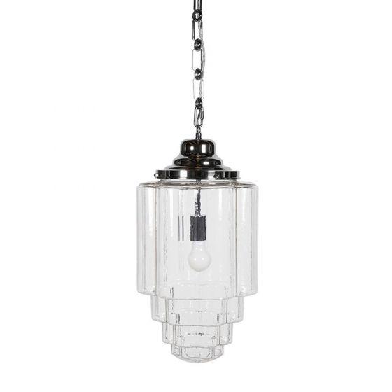 Nickel Luxury Glass Pendant Light
