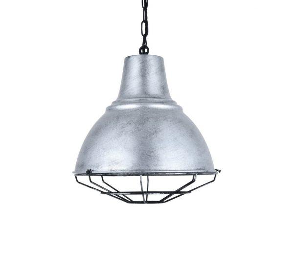 Compton Blackened Chrome Caged Bell Hallway Pendant Light - Soho Lighting