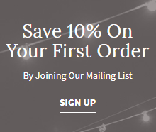 save 10% on your first order
